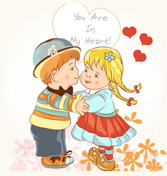 beautiful valentines day card with couple vector image