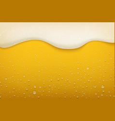 beer foam realistic craft beer bubbles condensate vector image