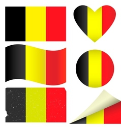 Belgium flags set vector image