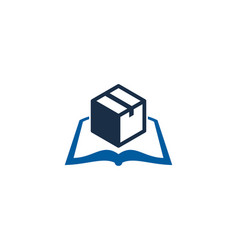 box book logo icon design vector image