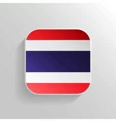 Button - thailand flag icon vector