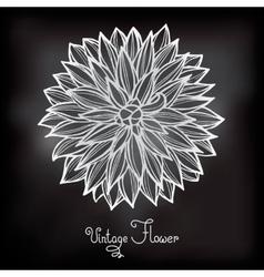 Card with beautiful flower dahlia vector