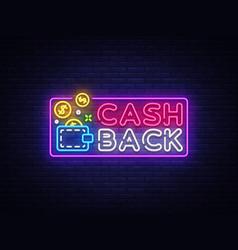 cash back sign design template wallet cash vector image
