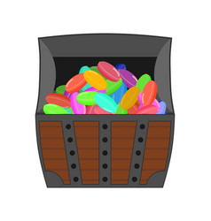 Chest candy sweets wealth vector
