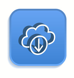 cloud download isometric icon for graphic and web vector image