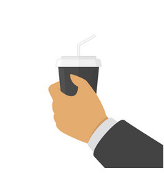 coffee in hand vector image