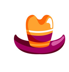 colorful clown hat with brim isolated on white vector image
