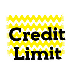 Credit limit stamp on white vector