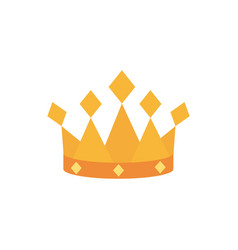 Crown monarch jewel royalty king or queen vector