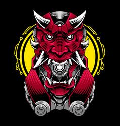 devil head mascot logo design vector image