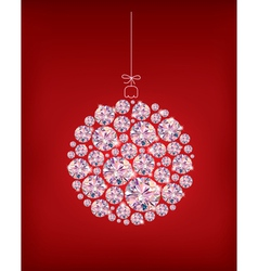 Diamond Christmas ball vector image