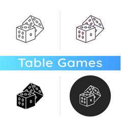 Dice games icon vector