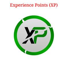 Experience points xp logo vector