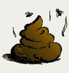 Feces cartoon vector