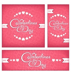 Festive banners and flyers for Valentines day vector