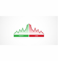Financial profit and loss graph charts vector