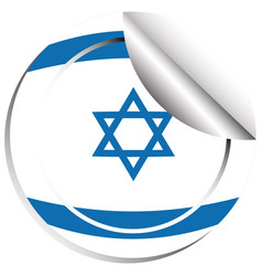 Flag icon design for israel vector