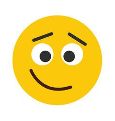flat smile emodji isolated on white background vector image