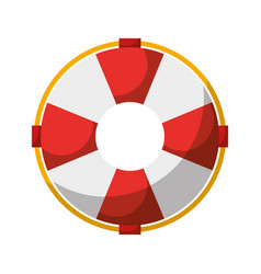 float lifeguard isolated icon vector image