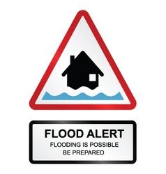 Flood Alert Warning vector