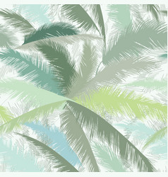 Floral pattern palm tree leaves summer tropical vector