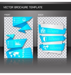 Flyer brochure template vector