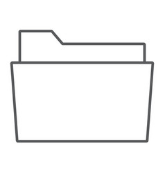 Folder thin line icon office and work vector
