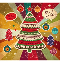 Funky Christmas Card vector image