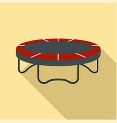 garden trampoline icon flat style vector image