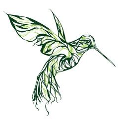 Green Colibri vector