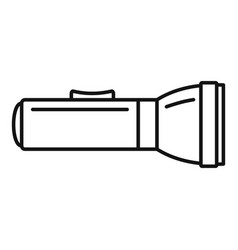 Hand flashlight icon outline style vector