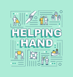 Helping hand word concepts banner social support vector