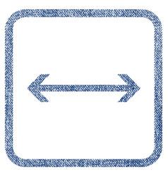 Horizontal flip fabric textured icon vector