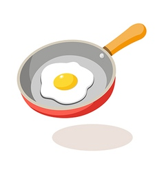 Icon frying pan vector