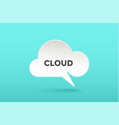 icon of white paper cloud talk vector image
