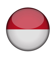 indonesia flag in glossy round button of icon vector image