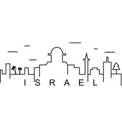 Israel outline icon can be used for web logo vector