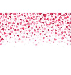 love heart confetti wedding anniversary and vector image