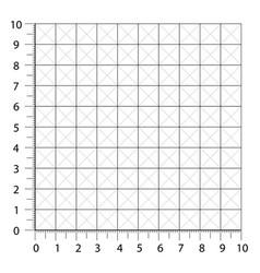 Measured grid graph plotting grid corner ruler vector