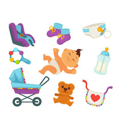 motherhood baby and newborn child care accessory vector image