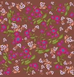 nature flowers seamless pattern vector image