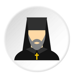 Orthodox priest icon circle vector