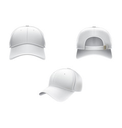 Realistic a white textile vector