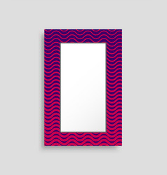 rectangular frame colorful vector image