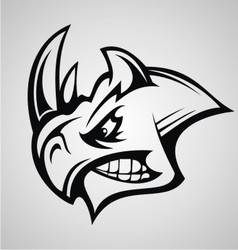 Rhino head tattoo vector
