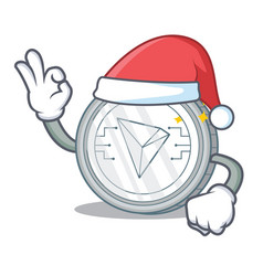 Santa tron coin character cartoon vector