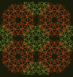 Seamless pattern of simple mandalas vector