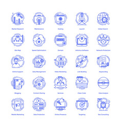 Seo icons pack vector