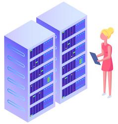 Server admin it girl system sdministration vector