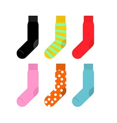 Set colorful socks accessories clothing vector image